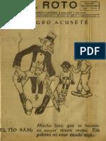 Periódico El Roto. Tacna, Chile, Miércoles 14.Abr.1926