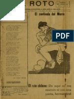 Periódico El Roto. Tacna, Chile, Viernes 05.May.1926