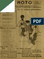 Periódico El Roto. Tacna, Chile, Sábado 17.Abr.1926
