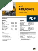 Palas Hidraulicas Sobre Orugas Cat 6040 Fs