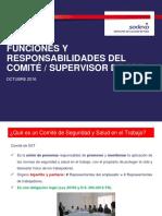 Funciones Comité-Supervisor de SST Oct 2016