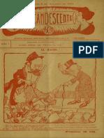 Revista El Incandescendente. N° 2 de 08.Oct.1910.  Revista semanal ilustrada satírico-política y de actualidades.