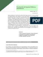 GEPyR 7, Privatizacion de EP y Liberalizacion
