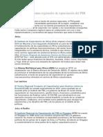 Centros y Programas Regionales de Capacitación Del FMI