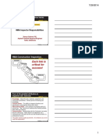 Session 1 Inspector Responsibilities Handout