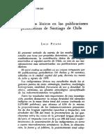 Indigenismos Lexicos en Las Publicaciones Periodisticas