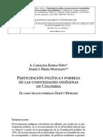 Participacion Politica y Pobreza Indigenas Col