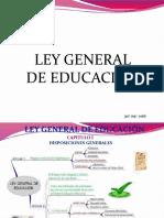 ley  general  de educación  resumen diapositivas