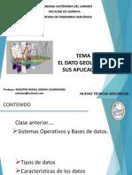 2.- Tema 1. El Dato Geologico y Sus Aplicaciones- Tipos de Datos