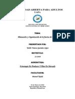 Planeación y Organización de La Fuerza de Ventas