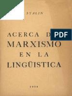 Stalin - Acerca Del Marxismo en La Lingüística