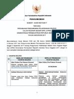 Pengumuman Pelaksanaan Seleksi Penerimaan CPNS Kemenperin (1)