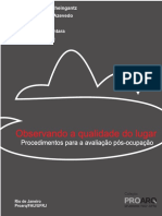 [Livro] Observando a Qualidade do Lugar   Procedimentos para Avaliação Pós Ocupação