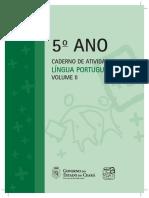 5 Ano Caderno de Atividades Lingua Portuguesa Volume II