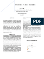 Informe Laboratorio de Física Mecánica