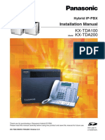 Panasonic KX-TDA100 TDA200 Installation Manual-1