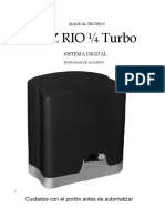 Manual Rio Turbo 14 Digital Central Facility New
