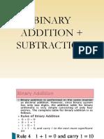 binary addition   subtraction
