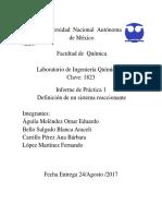 Liq IV Parctica 1 Definición de Un Sistema Reaccionante