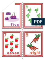 Flash Cards Numbers 5 to 8