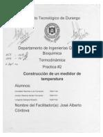 Reporte Practica #2 Construccion de Un Medidor de Temperatura