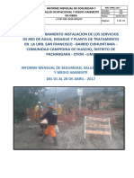 Informe Mensual Seguridad-medio Ambiente - Abril 2017- Churin Final