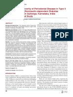 Prevalence and Severity of Periodontal Disease in Type II Diabetes Mellitus (Noninsulin-Dependent Diabetes Mellitus) Patients in Gulbarga Karnataka India an Epidemiological Study