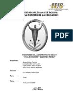 Analisis Anteproyecto Avelino Siñani - Elizardo Perez.doc
