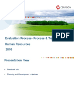 Evaluation Process- Process Training 2010 for All Employees