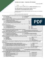 Prueba 3º Medio Historia Chile 1891 a 1925 2016