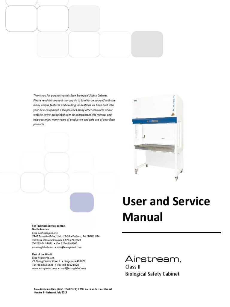 Esco elevator service manual