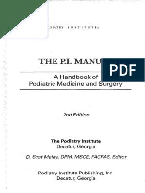 Podiatry Institute Manual | Foot | Toe