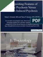 Psicosis Primaria vs Por Drogas