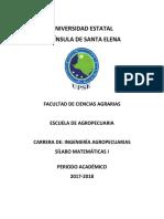 Matemática Silabo Sección 1