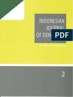 Indonesian Journal of Dentistry Penatalaksanaan 0