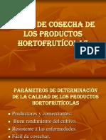 Indice de Cosecha de Los Productos