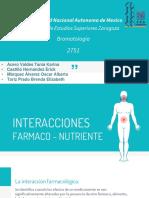 Interacciones Entre Farmacos y Nutrientes