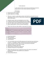 Questions Cardiac