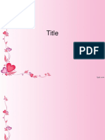 Power Point Template - Love