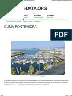 Clima Pontevedra_ Temperatura, Climograma y Tabla Climática Para Pontevedra - Climate-Data
