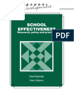 David Reynolds-School Effectiveness Research, Policy and Practice (School Development Series)(19