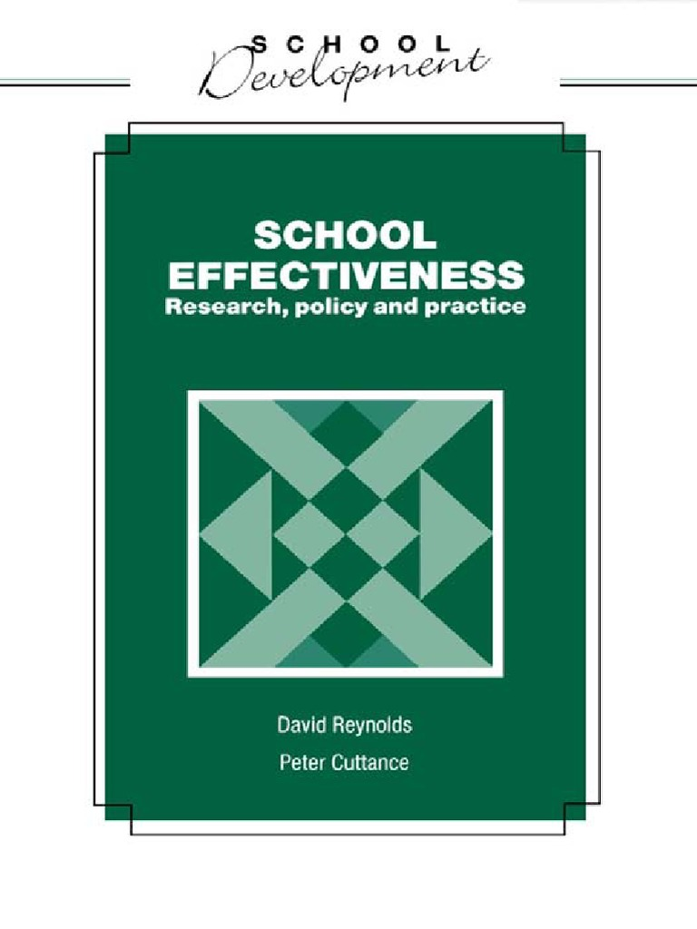 the international h andbook of school effectiveness research teddlie charles reynolds david