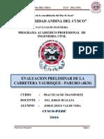Estudio Preliminar - Carretera Paruro - 4km