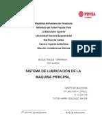 Trabajo de Sistema de Lubricacion de La Maquina Principal Hector Lopez