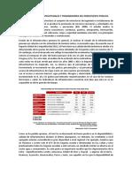 Brechas de Infraestructurales y Transmisiones Del Presupuesto Publico