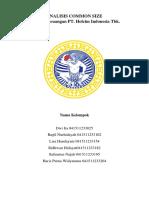 ANALISIS COMMONSIZE Laporan Keuangan PT. Holcim Indonesia Tbk. 2016 dan 2015
