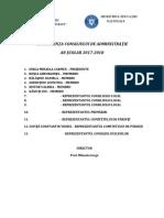 Componenţa Consiliului de Administraţie