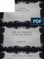 An immoral conduct isn't always a crime