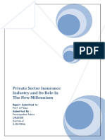Private Sector Insurance Industry and Its Role in the New Millennium