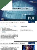 Fiber Test Best Practices Tier 1 Certification